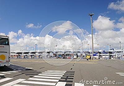 High speed ferry terminal - Gate Calais France Editorial Photography