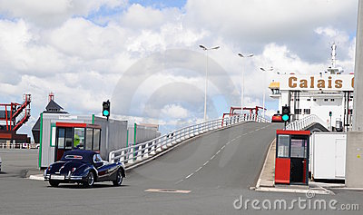 High speed ferry terminal - Gate Calais France Editorial Image