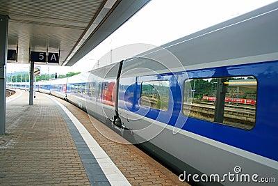 High speed France TGV train
