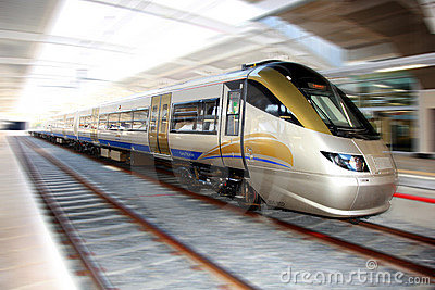 High Speed Gautrain, Gauteng, South Africa Editorial Photo