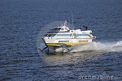 High speed hydrofoil ferry boat Editorial Stock Photo