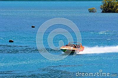 High speed jet boat ride - Queenstown NZ Editorial Photo