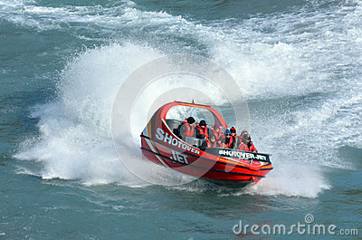 High speed jet boat ride - Queenstown NZ Editorial Photo