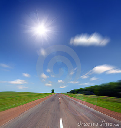 High speed road to sun