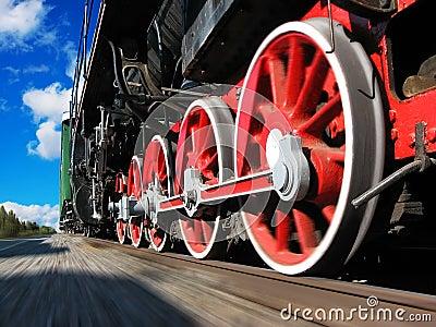 High speed steam locomotive