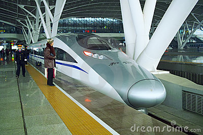High speed train Editorial Photo