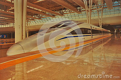HIgh Speed Train Editorial Stock Image