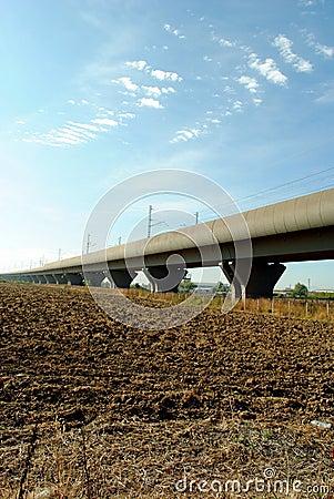 High speed train elevated railway