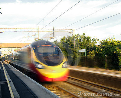High speed train in England