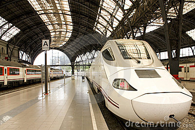 High speed train and local trains