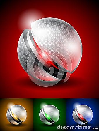 High tech abstract icon