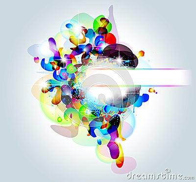 High Tech Abstract Rainbow Business Card