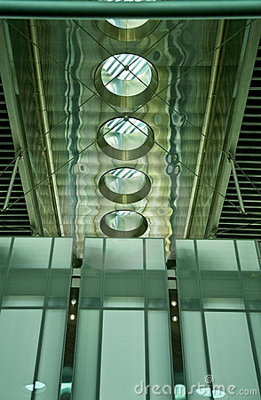 High-Tech Building Interior