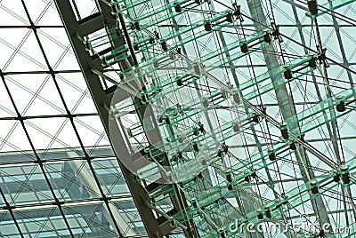 High-tech glass facade