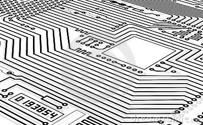 High-tech graphics monochrome background