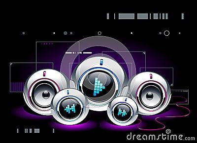 High tech sound system