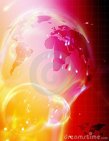 Free High Tech World Map Stock Photography - 76332