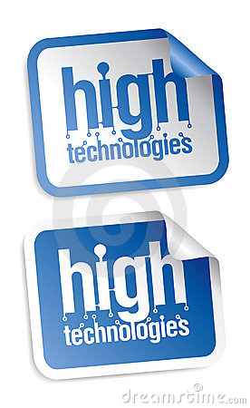 High technologies stickers
