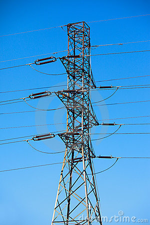 High tension electric pole