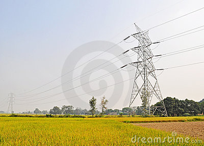 High tension electric  supply pole