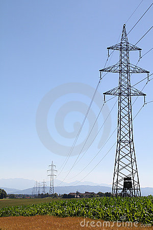 High tension electricity