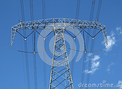 High-tension line and Transformer