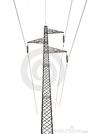 High Tension Power Line Pylon