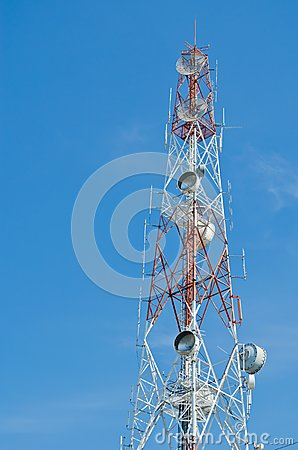 High tower with antenna for  communication