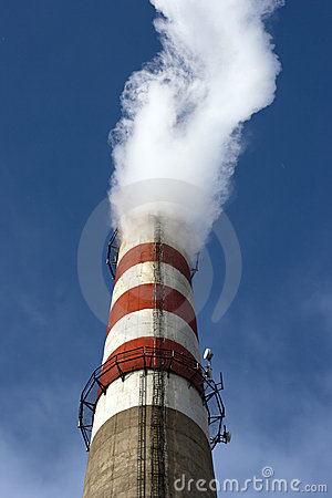 High tube with white smoke