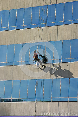 High Up Window Washing