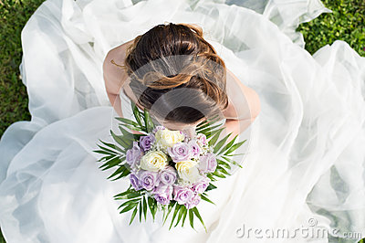 High View Of A Bride