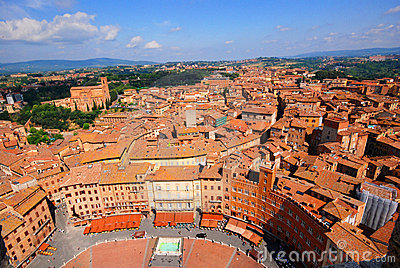 High view of Siena