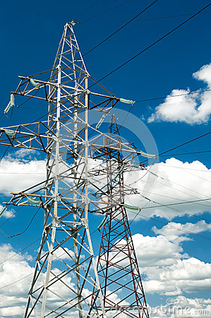 Free High Voltage Electric Line Royalty Free Stock Photos - 35051828