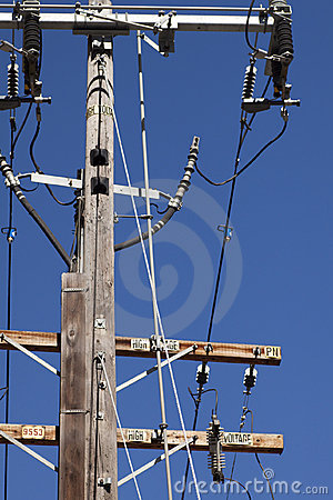 High Voltage Electric Pole