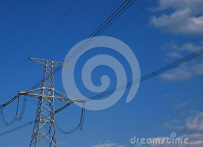 High-voltage electric post