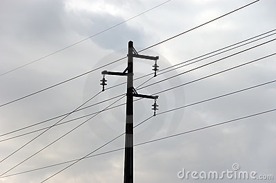 High-voltage electric pylon