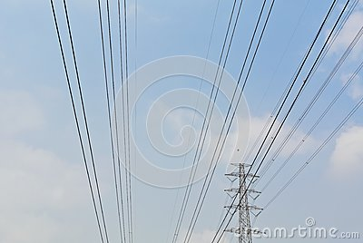 High voltage electrical power wire and post