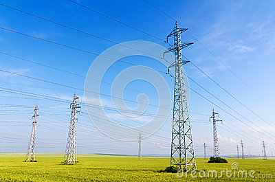 High voltage electricity pylons