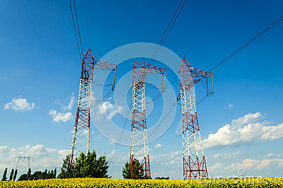High voltage energy towers