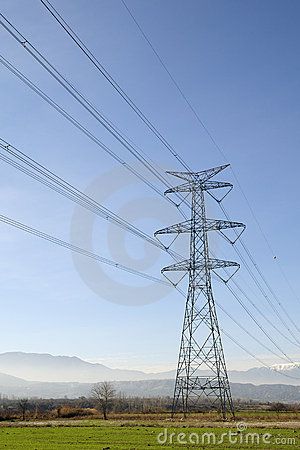 High Voltage Line Royalty Free Stock Photography - Image: 12268557