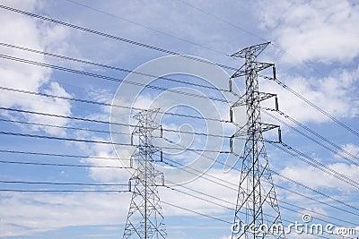 High voltage lines.