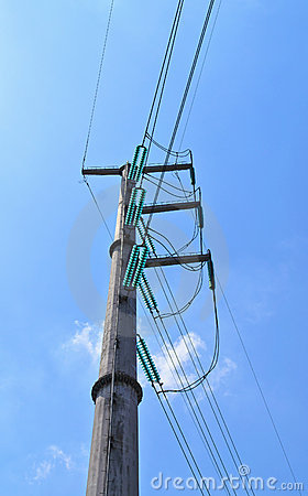 High-voltage pole