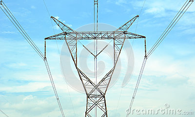 High voltage post