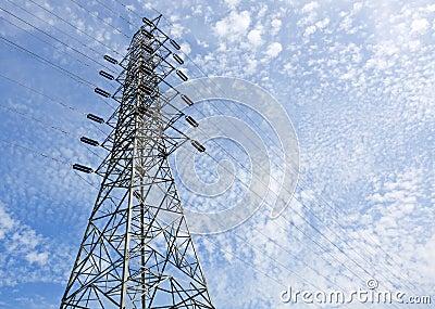 High voltage post.High-voltage tower