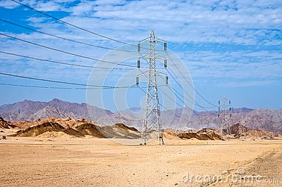 High voltage power electricity pylon