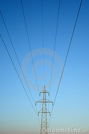 High voltage powerline tower