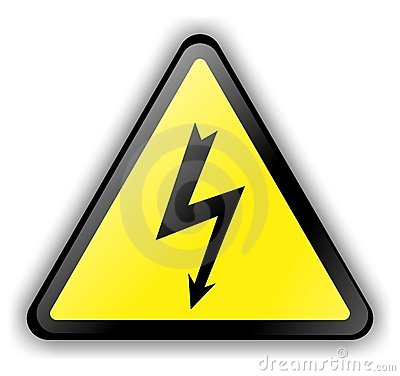 High Voltage Sign 3d