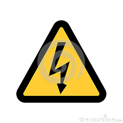 Free High Voltage Sign. Danger Symbol. Black Arrow Isolated In Yellow Triangle On White Background. Warning Icon. Stock Images - 86501864
