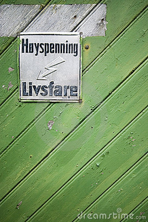 High voltage sign in Norway