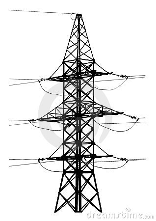 Free High Voltage Tower Royalty Free Stock Images - 23657629